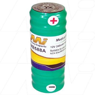 NCH Enuresis alarm Medical Battery, 12V, 250mAh, NiMH, Mst, MB588A