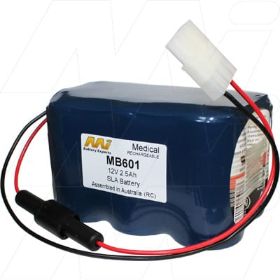 Nellcor N100 Medical Battery, 12V, 2500mAh, SLT, Mst, MB601