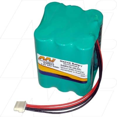 Nellcor N560 Pulse Oximeter Medical Battery, 9.6V, 3600mAh, NiMH, Mst, MB602