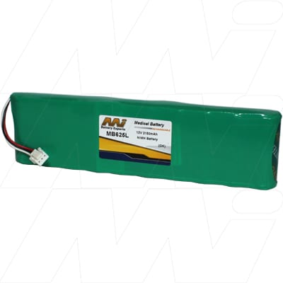 Nihon Kohden 9620L ECG Medical Battery, 12V, 2100mAh, NiMH, Mst, MB625L