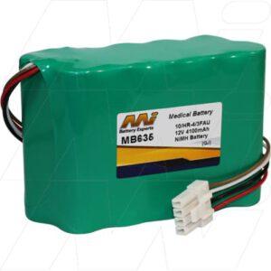 Nihon Kohden BSM2300 Series Bedside Monitor Medical Battery, 12V, 4100mAh, NiMH, Mst, MB635