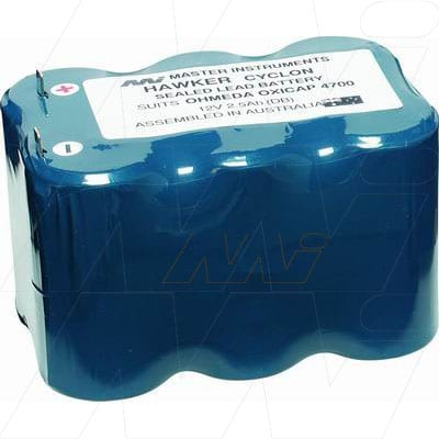Datex Ohmeda 4700 Oxycap Medical Battery, 12V, 2500mAh, SLT, Mst, MB662