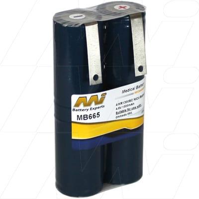 Bird Products Corporation 6800 volume monitor Medical Battery, 4.8V, 1300mAh, NiCd, Mst, MB665