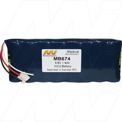 Datex Ohmeda I Px3 Hand Held Medical Battery, 9.6V, 1400mAh, NiCd, Mst, MB674