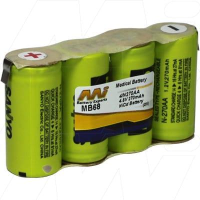 Minolta Jaundice 101 Medical Battery, 4.8V, 270mAh, NiCd, Mst, MB68