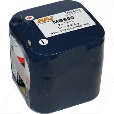 8V Invivo Research 4500 Pulse Oximet MB690 Battery