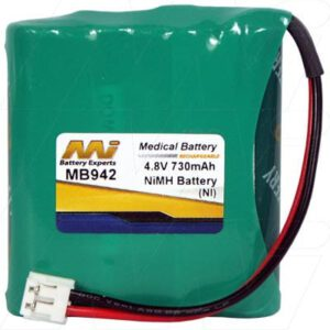 Harting & Helling (H&H) Janosch MBF5050 Medical Battery, 4.8V, 730mAh, NiMH, Mst, MB942