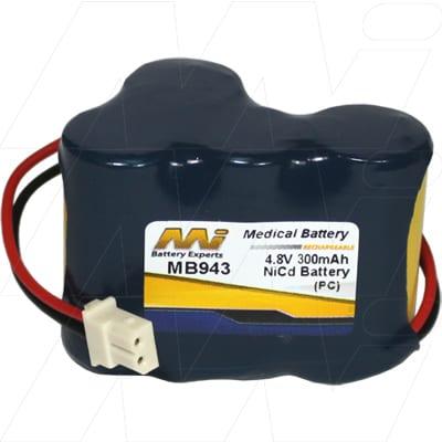 Baby Monitor Baby Monitor Battery, 4.8V, 400mAh, NiCd, MB943
