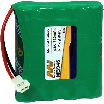 Summer Baby 02170 Video Monitor Medical Battery, 4.8V, 730mAh, NiMH, Mst, MB946