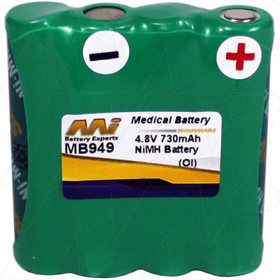 Harting & Helling (H&H) Bug 2004 Baby Monitor Medical Battery, 4.8V, 730mAh, NiMH, Mst, MB949