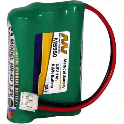 Graco 2791 Baby Monitor Battery, 3.6V, 800mAh, NiMH, MB950