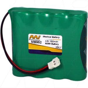 4.8V Philips SBC-SC465 MB952 Battery