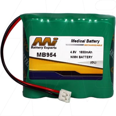 Philips SBC-SC463 Medical Battery, 4.8V, 1650mAh, NiMH, Mst, MB954
