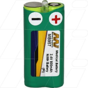 GP GP80AAAH2BX Medical Battery, 2.4V, 800mAh, NiMH, Mst, MB957
