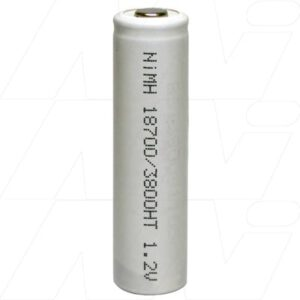 1.2V 18700 Nickel Metal Hydride - NIMH Industrial High Temperature Cylindrical Cell, 3.8Ah, Mst, MH-A3800HT