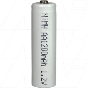 1.2V AA Nickel Metal Hydride - NIMH Industrial High Temperature Cylindrical Cell, 1.2Ah, Mst, MH-AA1200