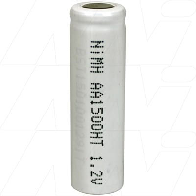 1.2V AA Nickel Metal Hydride - NIMH Industrial High Temperature Cylindrical Cell, 1.5Ah, Mst, MH-AA1500HT