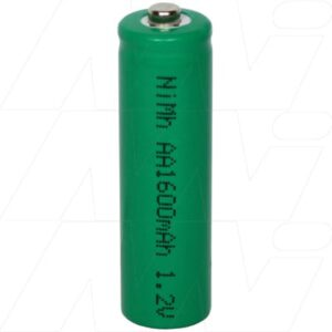 1.2V AA Nickel Metal Hydride - NIMH Industrial Cylindrical Cell, 1.6Ah, Mst, MH-AA1600