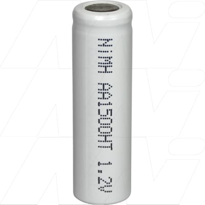 1.2V Short AA Nickel Metal Hydride - NIMH Industrial High Temperature Cylindrical Cell, 1.5Ah, Mst, MH-AAL1500HT