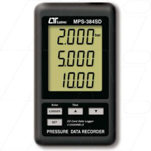 Lutron Dataloggers - MPS384SD 3 Channel Pressure Data Recorder. SD Card memory, MPS384SD