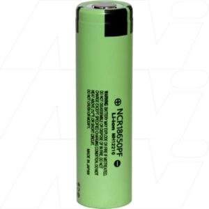 3.6V Lithium Ion Medium Drain High Capacity Cylindrical Battery, Panasonic, NCR18650PF