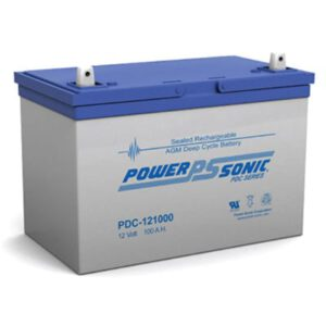 12V 100Ah Powersonic AGM Deep Cycle Sealed Lead Acid (SLA) Battery, PDC-121000
