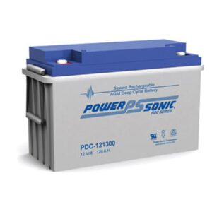 12V 128Ah Powersonic AGM Deep Cycle Sealed Lead Acid (SLA) Battery, PDC-121300