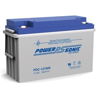 12V 160Ah Powersonic AGM Deep Cycle Sealed Lead Acid (SLA) Battery, PDC-121600