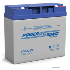 12V 21Ah Powersonic AGM Deep Cycle Sealed Lead Acid (SLA) Battery, PDC-12200
