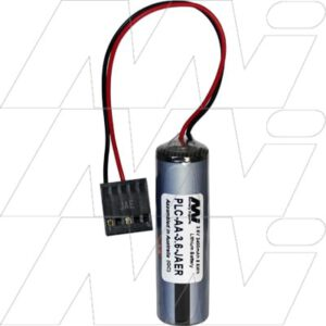 3.6V AA Lithium Thionyl Chloride Battery suitable for PLC, CNC & Memory Backup, 2400mAh, Mst, PLC-AA-3.6-JAER