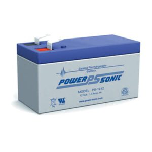 12V 1.4Ah Powersonic AGM General Purpose Sealed Lead Acid (SLA) Battery, PS-1212