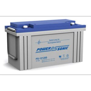 12V 124.8Ah Powersonic AGM General Purpose Sealed Lead Acid (SLA) Battery, PS-121200