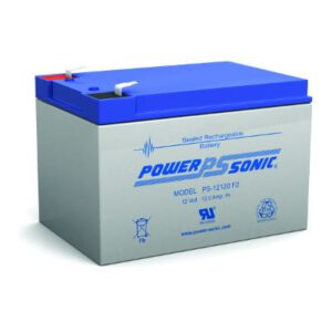 12V 12Ah Powersonic AGM General Purpose Sealed Lead Acid (SLA) Battery, PS-12120 F2
