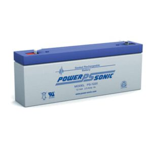 12V 2.5Ah Powersonic AGM General Purpose Sealed Lead Acid (SLA) Battery, PS-1220