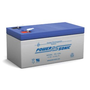 12V 3.4Ah Powersonic AGM General Purpose Sealed Lead Acid (SLA) Battery, PS-1230