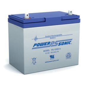 12V 55Ah Powersonic AGM General Purpose Sealed Lead Acid (SLA) Battery, PS-12550