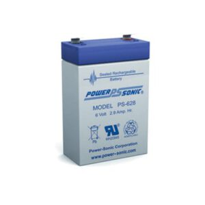 6V 2.9Ah Powersonic AGM General Purpose Sealed Lead Acid (SLA) Battery, PS-628