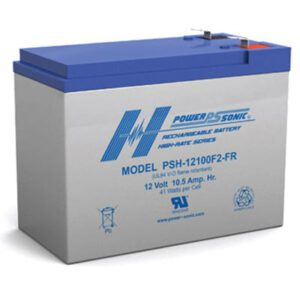 12V 10.5Ah Powersonic AGM Hi Rate Discharge Sealed Lead Acid (SLA) Battery, PSH-12100 FR