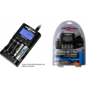 NIMH Battery Charger Ansmann Powerline 4 1-4 cell auto. quick Charger/dischgr AA & AAA NiMH, Ansmann, Powerline 4 Pro Traveller