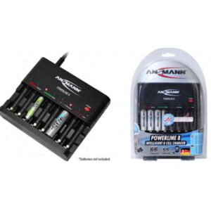 NIMH Battery Charger Ansmann Powerline 8 1-8 cell auto. quick Charger/discharger AA & AAA NiMH cells, Ansmann, Powerline 8