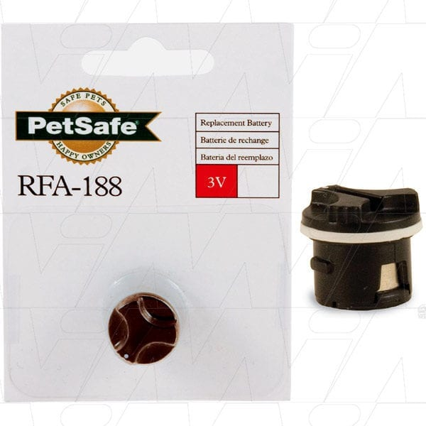 PetSafe Deluxe Cat containment collar and all PetSafe Nano collars Animal Tracking Battery, 3V, LiMnO2, RFA-188