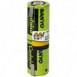 Bausch & Laumb Interplak Shaver / Personal Grooming Battery, 2.4V, 600mAh, NiCd, SHB11