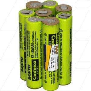 Laube Lazor Clipper Battery, 2x4.8V, 1.2Ah, NiCd, SHB30