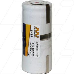 Eltron 5545 Shaver / Personal Grooming Battery, 2.4V, 800mAh, NiCd, SHB6