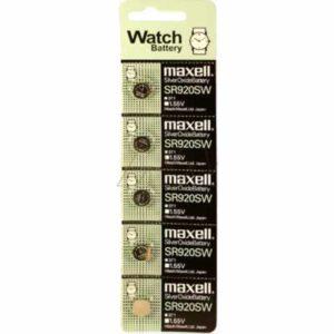 1.55V Silver Oxide Button / Coin Cell 39mAh, Maxell, SR920SW-BP5