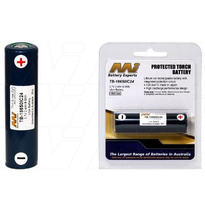3.7V LiIon Battery suitable for Specialised Torch & Laser Sight various models, 2400mAh, Mst, TB-18650IC24-BP1