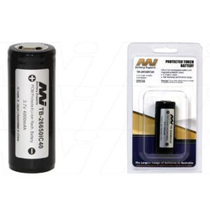 Cree Specialised Torch & Laser Sight Battery 3.7V 4000mAh Lithium Ion LiIon TB-26650IC40-BP1