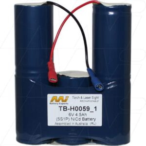6V NiCd Battery suitable for Specialised Torch & Laser Sight, 4500mAh, Mst, TB-H0059_1