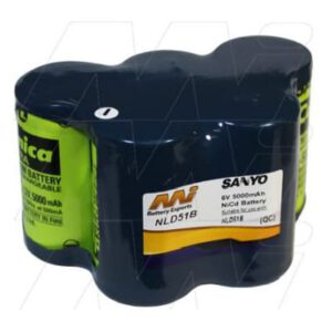 6V NiCd Battery suitable for Specialised Torch & Laser Sight, 5000mAh, Mst, TB-NLD51B