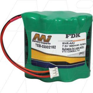 Vetronix CONSULT-II Diagnostic System Test Equipment Battery 7.2V 1.65Ah NIMH TEB-03002152